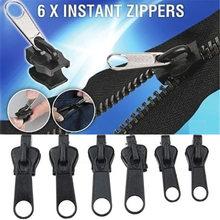 Universal 6 pçs kit de reparo instantâneo com zíper substituição zip slider dentes resgate novo design zíperes para costura roupas