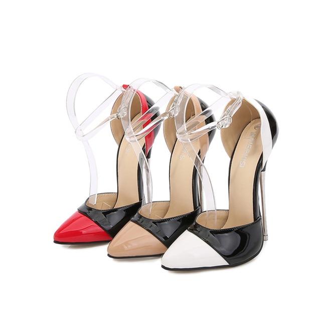Spring Autumn Fashion Women High heeled Shoes Sexy Super High 16 CM High heels Size 35   46 Female Pumps 02A|Women's Pumps|   -