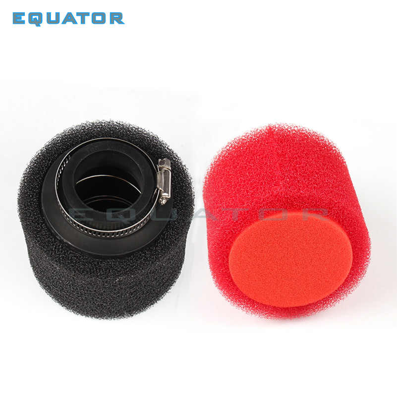 Motorfiets pit dirt bike ATV onderdelen 35mm 38mm 42mm 45mm 48mm Gebogen Schuine Foam Air filter Pod PIT Quad Dirt Bike ATV Buggy