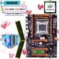 Материнская плата HUANANZHI X79 deluxe  со слотом M.2 NVMe  процессор Intel Xeon E5 2640 с кулером RAM 16G(2*8G) RECC  новое поступление