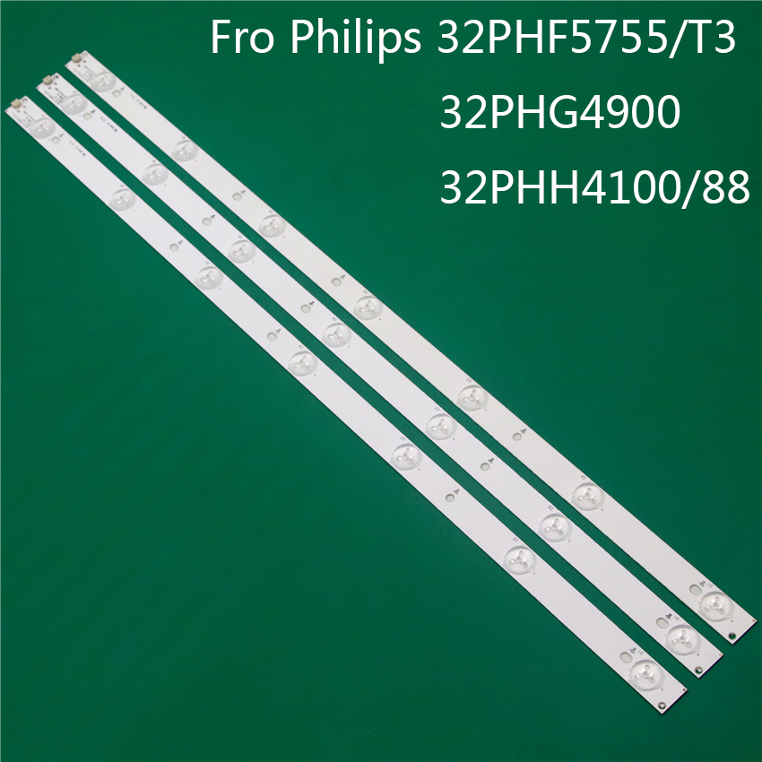 LED TV Illumination For Philips 32PHF5755/T3 32PHG4900 32PHH4100/88 LED Bar Backlight Strip Line Ruler GJ-2K15 D2P5 D307-V1 V1.1
