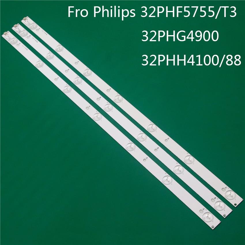 TV LED di Illuminazione Per Philips 32PHF5755/T3 32PHG4900 32PHH4100/88 LED Bar Striscia di Retroilluminazione Linea Righello GJ-2K15 D2P5 d307-V1 V1.1