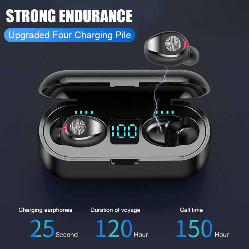Bluetooth 5,0 наушники мини TWS Беспроводные наушники беспроводные Bluetooth наушники с 2000 мАч зарядная коробка Спортивная гарнитура