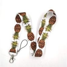 С леопардовым принтом ананаса шейный ремешок Ремешки удостоверение