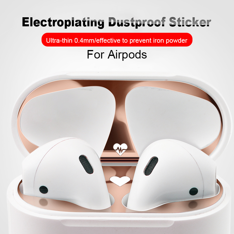 Cute Dust Guard Protective Sticker For Airpods 2 Air Pods 1 Earphone Case Shell Skin Dustproof Film For Airpods 2nd Charging Box