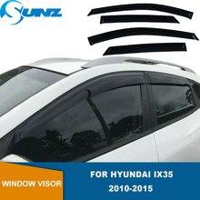 Ventana Deflector para Hyundai IX35 2010, 2011, 2012, 2013, 2014, 2015 negro Weathershields ventana Visor Sun lluvia guardias riovalle   Energía