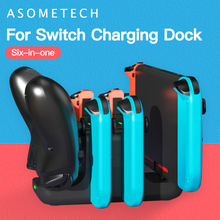 6 in 1 Charger for Nintendo Switch Console Joycon Gamepad Charging Dock Station for Nintend Switch Controller Stand Accessories