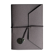Creative PU Leather Cover Loose-leaf Tri-fold Notebook A5 Travel Handbook for Dairy Travel Office K3NB