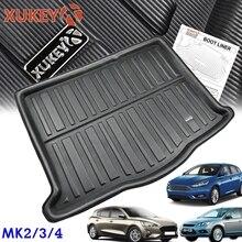 Suporte de bagagem para ford focus mk2 mk3 mk4, capa traseira e malas de carga hatchback 2004 2019 bandeja do tapete alfaiate