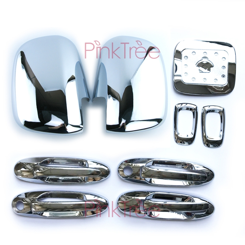 Chrome Door Handle Side Lamp Mirror Tank Cover Accessories For <font><b>Toyota</b></font> <font><b>Land</b></font> <font><b>Cruiser</b></font> <font><b>100</b></font> For Lexus LX470 1998-2003 2004-2007 image