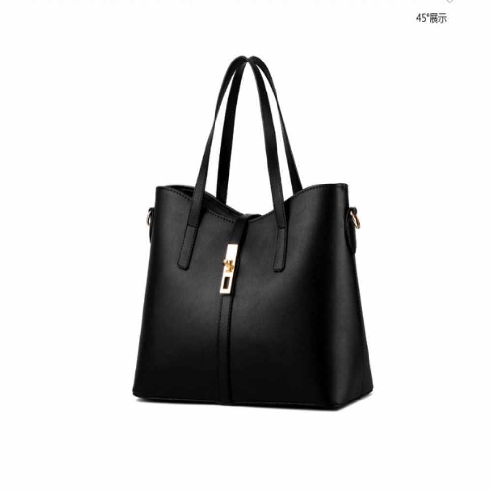 100% جلد طبيعي النساء حقائب 2019 جديد الفقرة المد MS الإناث حقيبة كبيرة حقيبة حقيبة كتف بتصميم بسيط حقيبة يد رسول