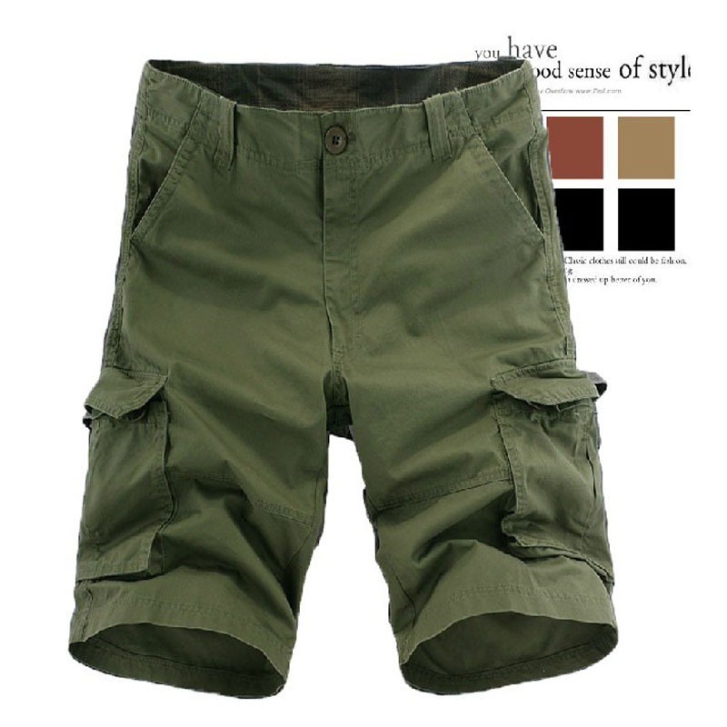 Hot Selling Recruit Pure Cotton Multi-pockets MEN'S Overalls Shorts Shorts Europe And America Large Size Shorts Sub-