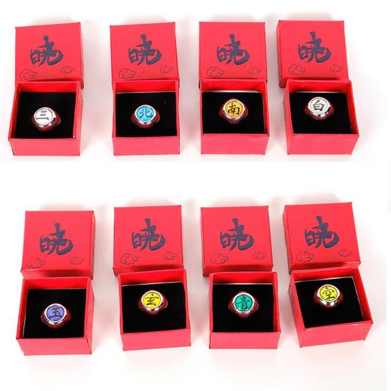 Anime Naruto Akatsuki Uchiha Itachi Cosplay Ring Red Box Packed