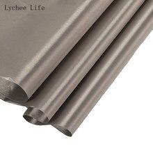 Lychee vida anti radiação eletromagnética rfid bloqueio tecido rf blindagem tela emi material de costura de blindagem