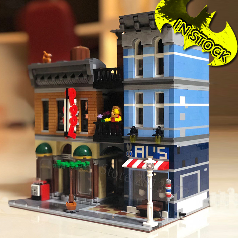 10246 Creator Detective Office 15011 84001 2262Pcs Street View Model Building Kits Blocks Bricks Education Toys