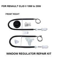 1998 2016 WINDOW REGULATOR COMPLETE CLIP SET RENAULT CLIO II WINDOW REGULATOR REPAIR KIT FRONT RIGHT 2/3 DOOR window regulator repair kit window regulator repair window regulator -