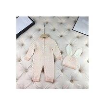 Baby Cardigan Sweater Newborn Toddler Baby-Boy-Girls Knit Romper Letter Brown Pink Blanket