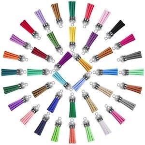 200 ключей Пряжка кисточкой оптом кожа кисточкой цвет кисточкой кулон для DIY брелок и ремесло, 40 цветов s.