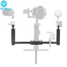 المزدوج يده كاميرا التصوير Gimbal المحمولة عدة ل DJI Ronin s ل Zhiyun Crane2 برو استقرار DSLR SLR عقد قبضة مقابض