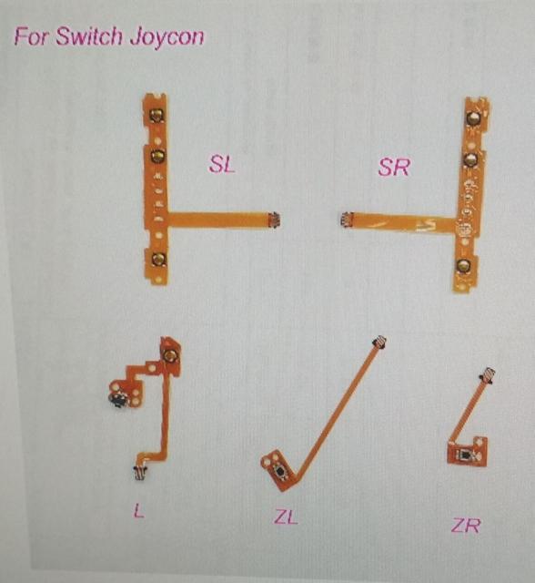 Оригинальный 25 шт./лот ns switch joy controller SL SR L ZL ZR button flex cable ribbon