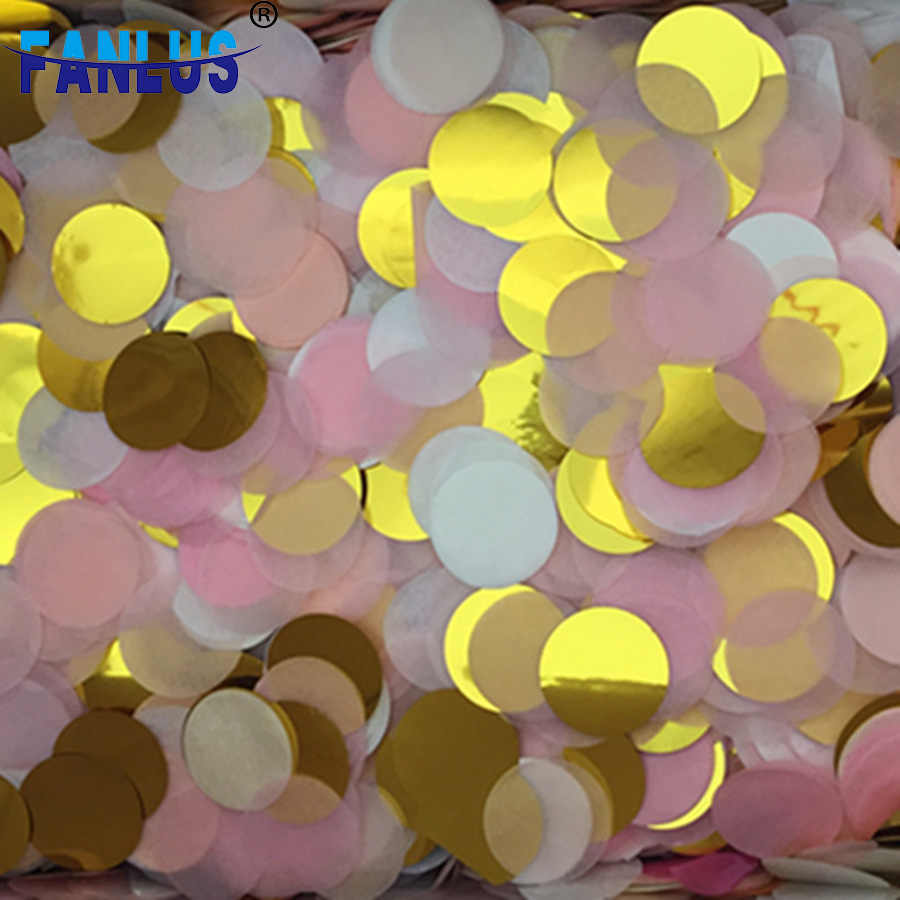 30G/Lot2.5cm Heldere Kleuren Ronde Tissue Papier Confetti Wedding Party Tafeldecoraties Partij Decoratie Partij Gunsten Baby Shower