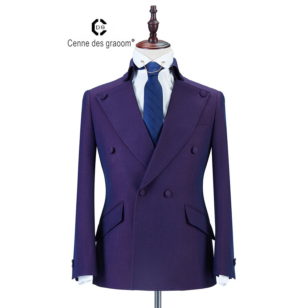 wedding : 2020 Cenne Des Graoom New Men Suit Coat Pants Latest Designs  Double Breasted Two Pieces Slim Fit Khaki Wedding Casual GroomDG-A