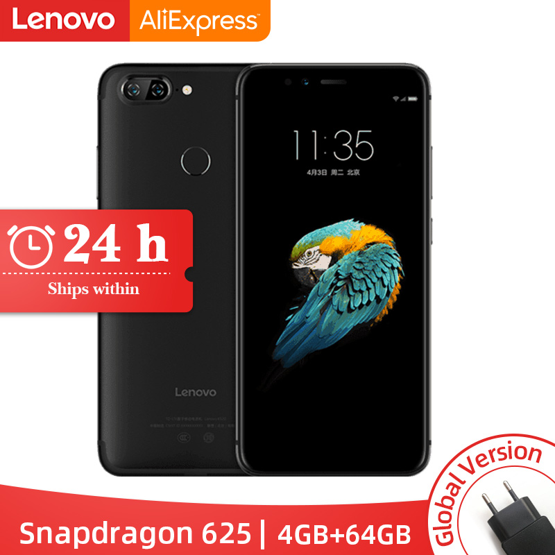 Global Version Lenovo S5 K520 <font><b>4GB</b></font> RAM <font><b>64GB</b></font> ROM <font><b>Smartphone</b></font> Snapdragon 625 Octa core Dual Rear 13MP Front 16MP Face ID Cellphone image