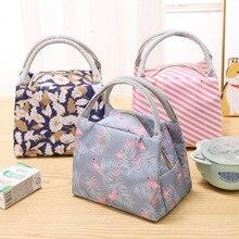 Милый Фламинго Портативный молнии водонепроницаемый сумки для обеда для женщин Студенческая коробка для завтрака термо сумка офисные школы пикника сумки-холодильники Bolsos