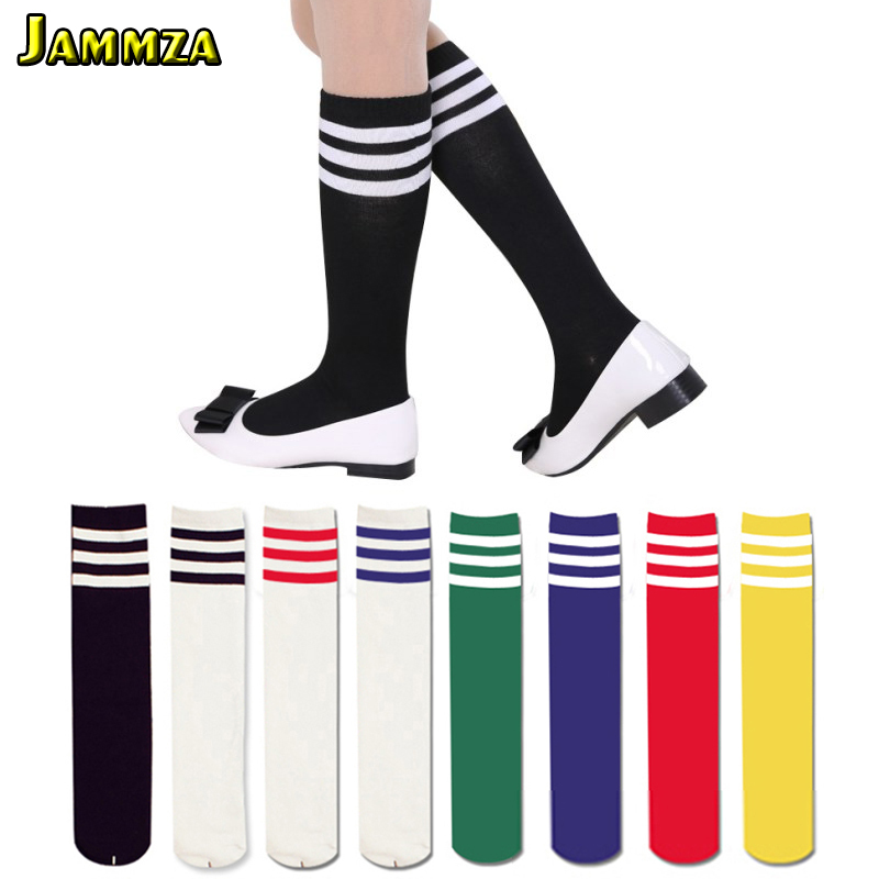 Hot Korea Style Three Bars Fashion Women Sporty Long Thigh High Socks Cotton Elasticity Stripe College Student Skirt Base Socks