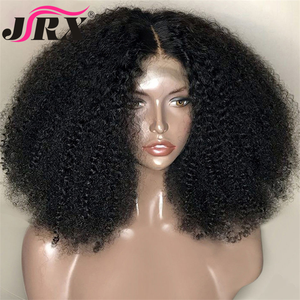 Image 1 - Afro Kinky Curly Wig 13x4 Lace Front Human Hair Wig High Ratio For Women Remy Hair Wig Human Hair Lace Front Wigs