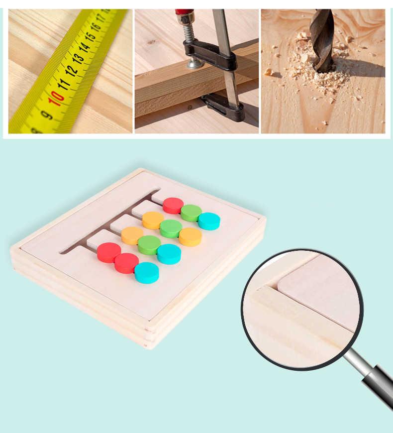 モンテッソーリ教材 4 色ゲームおもちゃ赤ちゃん啓発論理的思考の訓練教育玩具子供の木製おもちゃ