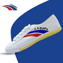 DaFu Kungfu Original Sneakers Classical Shoes Martial Arts Taichi Taekwondo Wushu Soft Comfortable Men Women Tai Chi White Black