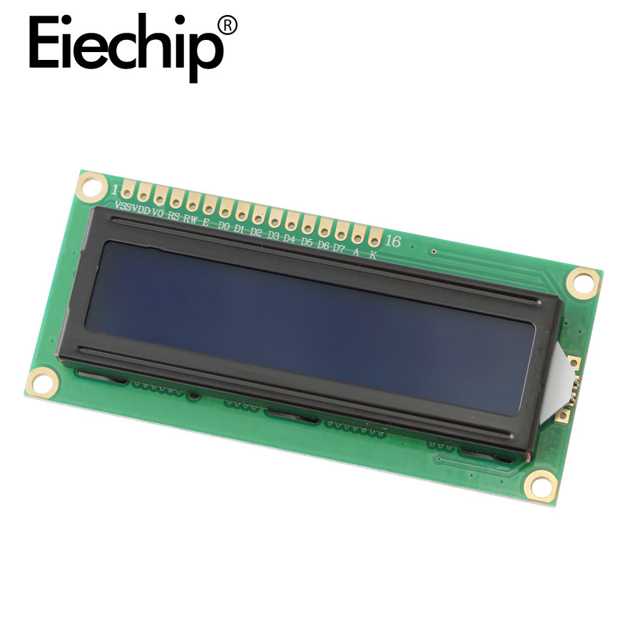 LCD1602  Display 5V Backlit Blue / Yellow Green 1602 LCD Screen IIC / I2C Interface Module PCF8574 Expansion Board For Arduino