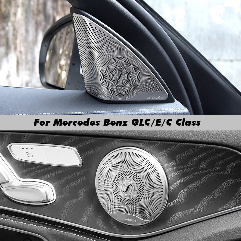Cubierta de altavoz de Audio de coche, cubierta de altavoz de puerta embellecedora, accesorios interiores de coche para Mercedes Benz E/C/GLC clase W213 W205 X253