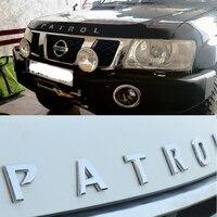 ABS Chrome Car Front Hood Emblem Sticker For Nissan Patrol Y61 VTC Armada Accessories