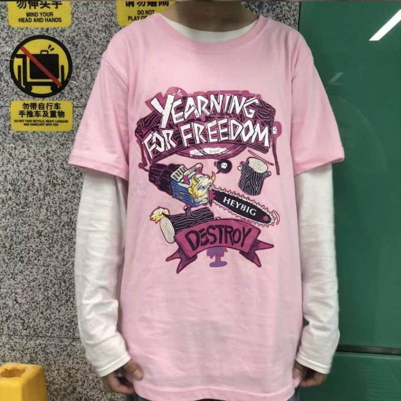 NiceMix Hip-hop Harajuku Ulzzang Street Skateboarding T Shirt Women Tshirt  Pink Short-sleeved  O-Neck Tops Graphic Tees Women
