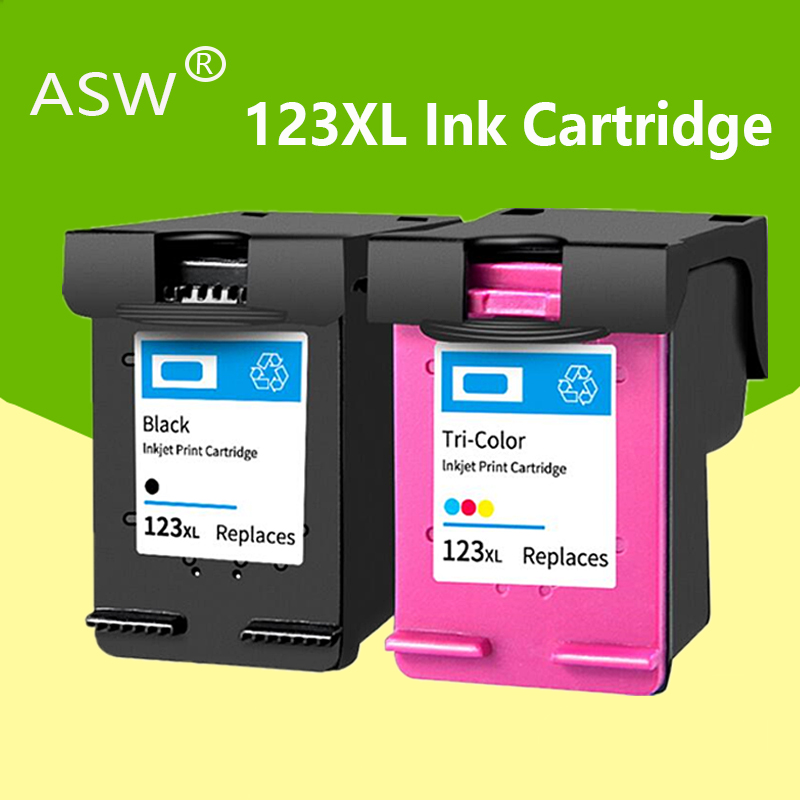 Asw 123 Voor HP123 123XL Inkt Cartridge Voor Hp Deskjet 1110 1111 1112 2130 2132 2134 Officejet 3830 3831 3832 3834 Printer