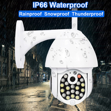 Wifi PTZ IP camera 1080P Outdoor Waterproof Camera Audio TF Card Record P2P ONVIF IR Home Surveilance Wireless Security Camera