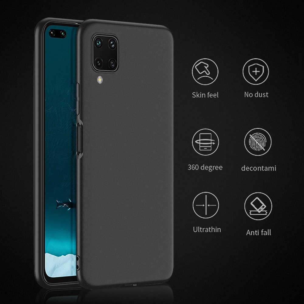 For Huawei Nova 7i 6 6SE Pure Black Matte Case For Huawei Nova 6 SE 7i Soft  Protective Phone Case Back Cover Coque Shell|Phone Case & Covers| -  AliExpress