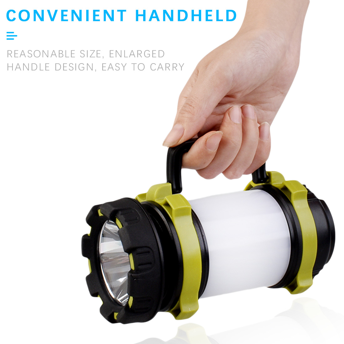 Portable LED Camping Light Working Light Outdoor Tent Light Handheld Flashlight USB Rechargeable Waterproof Search Light