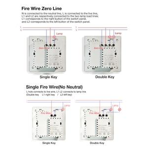 Image 3 - Aqara Tường Thông Minh Công Tắc D1 Không Dây Zigbee Chìa Khóa Điều Khiển Từ Xa Công Tắc Trung Lập Dây Cháy Ba Nút Mijia Smart nhà