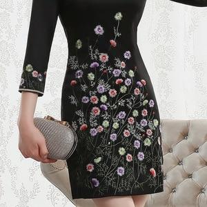 Image 4 - Vestido De Debutante Autumn 2020 New Fashion Retro Cheongsam Dress Quality High end Factory Direct Sale Women With Nine Sleeves