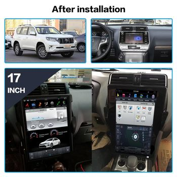 Vertical Tesla Style Android 9.0 Car multimedia GPS Player For TOYOTA Land Cruiser Prado 150 2018 radio tape recorder head unit