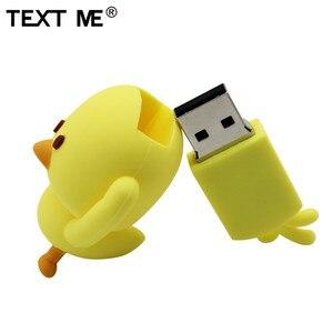 Image 4 - Metin karikatür sevimli sarı tavuk tarzı usb flash sürücü usb 2.0 4GB 8GB 16GB 32GB 64GB pendrive sevimli hediye