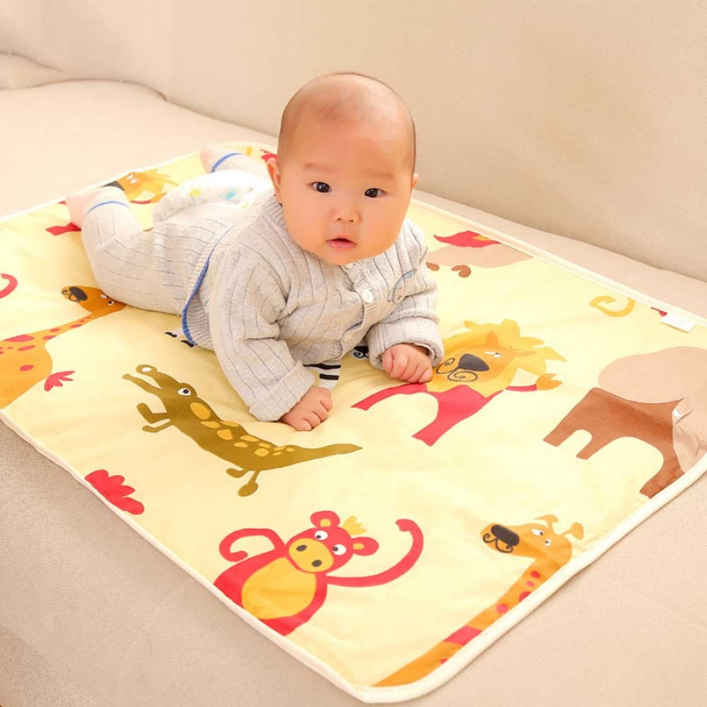 3 Layers Baby Changing Pad Waterproof Changing Mat Cover Cartoon Diaper Pad