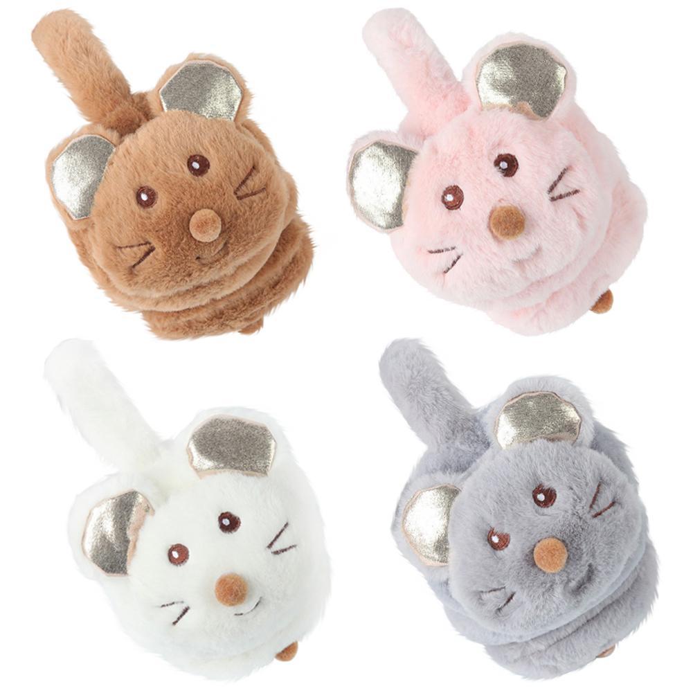 2020 Winter New Year Cute Kids Mouse Earmuffs For Child Boys And Girls Headphones Fashion Faux Fur Winter Cartoon Earmuffs