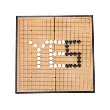 Weiqi – ensemble de jeu de voyage pliable magnétique, planche avec 2 boîtes, pièces d'échecs SD, cadeaux, accessoires de jeux d'échecs