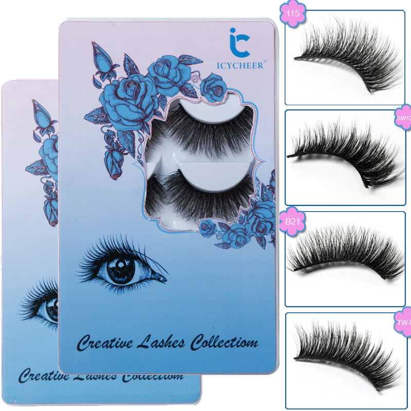 ICYCHEER 5 Pairs Makeup 3D Mink Lashes Long Thick Soft Eyelashes Extension Wispy Faux Cils Maquiagem Cilios ресницы