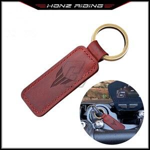 For Yamaha MT MT01 MT03 MT07 MT09 MT10 Key Motorcycle Keychain Cowhide Key Ring