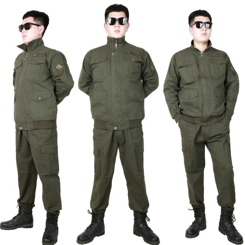 Wear-Resistant Work Suit Men's Spring And Autumn Heat Resistant Electric Welding Pure Cotton Wire Workwear Work Site Auto Repair